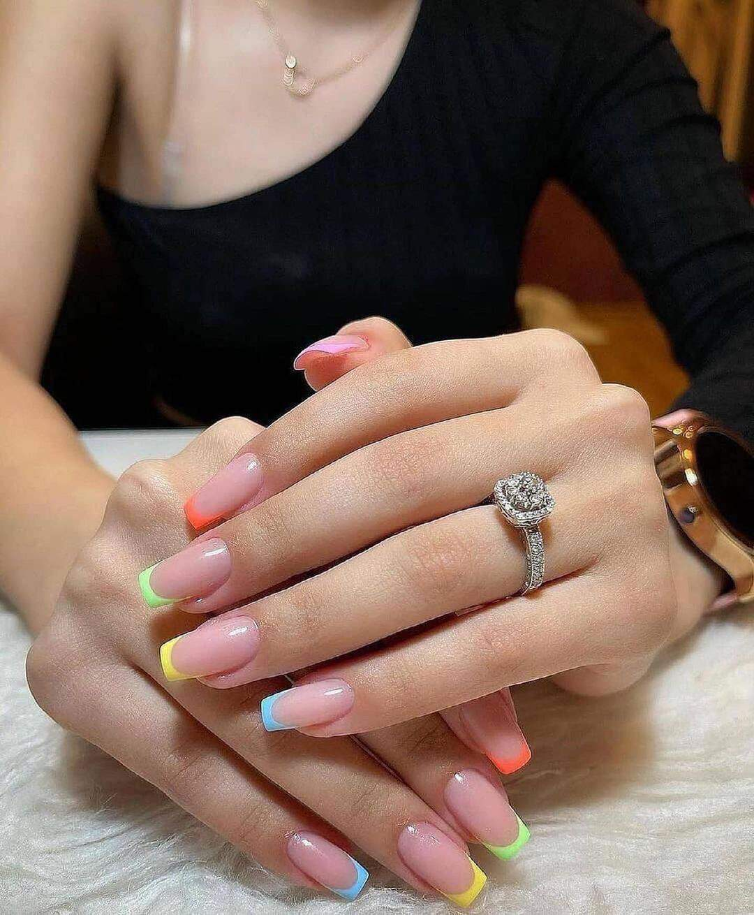 35 Cute Summer Nails To Rock For Women In 2021 images 32