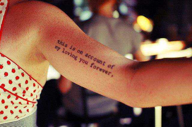 40+ Inspiring Arm Quote Tattoos Ideas: What's Your Favorite? images 1