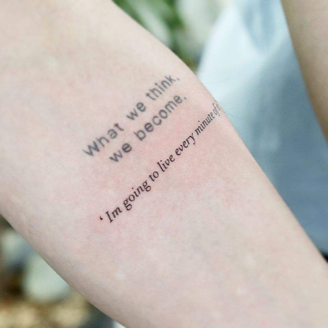 40+ Inspiring Arm Quote Tattoos Ideas: What's Your Favorite? images 3